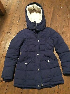 gorgeous girls navy warm H&M winter coat age 7/8