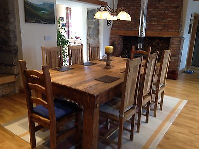 Dining Table Oak Rustic Handmade From Reclaimed Wood