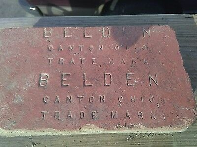 "Rare Old Vintage Antique Ohio ""Belden Brick"" Brick Paver - Collectible"