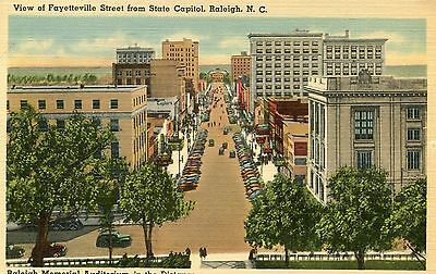 Raliegh, N.C., View of Fayetteville Street from State Capitol