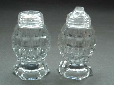 Clear Glass faceted salt and pepper set