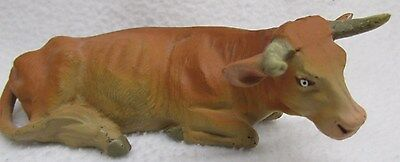 Elastolin Germany vintage Composition Steer Cow Nativity?
