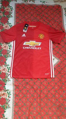 Maillot foot equipe DOMICILE MANCHESTER UNITED POGBA IBRAHIMOVIC TAILE XL L M S