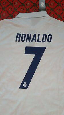 Maillot foot equipe du REAL MADRID DOMICILE 2017 RONALDO BENZEMA TAILLE XL L M S