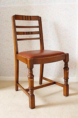 Vintage Mid Century Retro Chair 1950s Wooden Dining Chair Seat