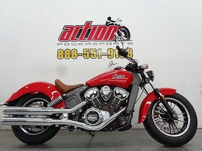 Indian Scout  2016 Indian Scout cruiser full size 664 miles financing shipping