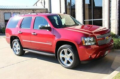 2012 Chevrolet Tahoe LTZ Sport Utility 4-Door 4WD Crystal Red Sunroof Rear Seat Entertainment 2nd Row Buckets Chrome 20's More