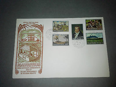 Mauritius Fdc Cover 1969 - Charles Telfair Improvement To Sugar Industry