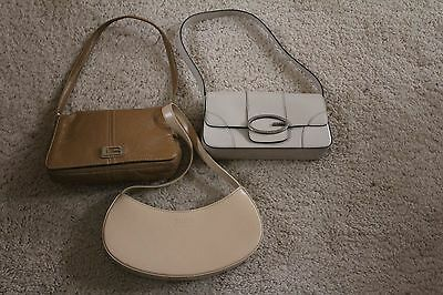 lot of 3 small biege bags Guess