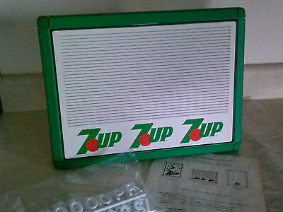 Vintage 7 UP Menu Board & Letters 1989 Store Cup Display Sign Soda  Advertising