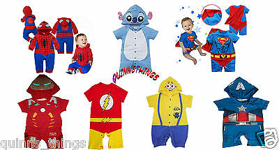 Baby Toddler Boy Superhero Comic Romper Party Costume/ Fancy Dress/ Play Outfit.