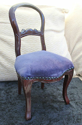 Doll Display Wooden Balloon Back Chair