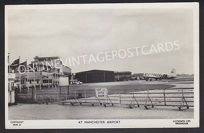Manchester Airport Superb Early Real Photo