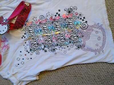 marks and spencer hello kitty t shirt and hair bandNew bnwt £13 size11/12 £3