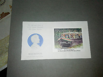 Mauritius Fdc Cover 1985 - The Life And Times Of Hm Queen Elizabeth M/s