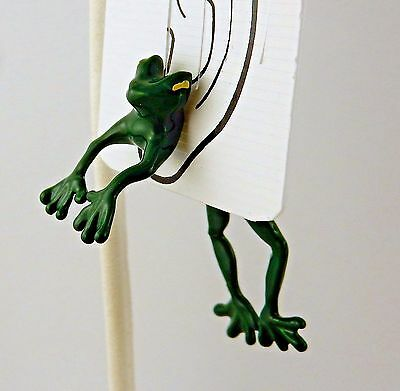 Hand Painted Leaping Frog EARlusion 3D single earring