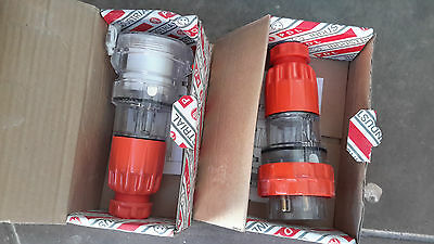 PDL 4 pin 3 phase 32Amp plug and socket, new - free postage-start price lowered