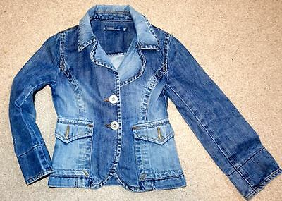 Girls Denim Jacket, Zara Kids, Retro 70's Shape, Fits 8 Yrs