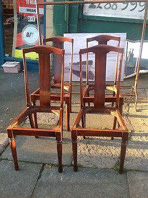 Antique Rosewood High Back Dining Chairs Set Of 4 Co Op Label Leeds