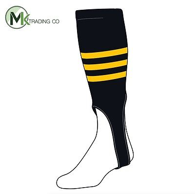 "TCK® Small/Youth, 100B, 6"" - Black–Gold - MLB® Baseball Stirrups"