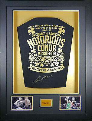 Conor Mcgregor Ufc Signed Shirt Display With Coa
