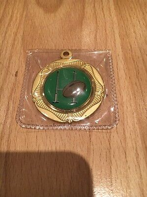 Rugby League Gold Plated Medal X1