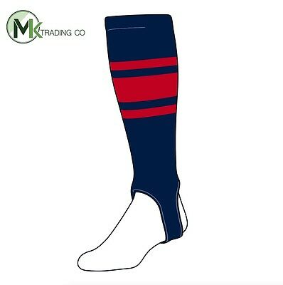 "TCK® Small/Youth, 100C, 4"" - Navy Blue–Scarlet Red - MLB® Baseball Stirrups"
