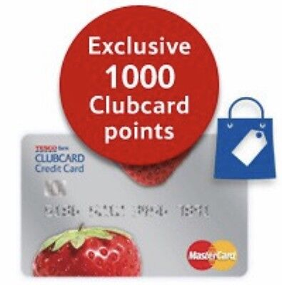 Tesco Credit Card Referral 1000 Clubcard Points + GIFT!