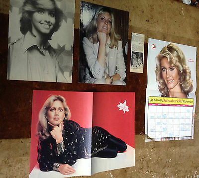 Lot Rare Vintage Clippings / Photos ~ OLIVIA NEWTON JOHN ~ Centerfold Pin-Up