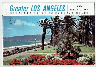 Vintage Greater Los Angeles Souvenir Guide in Natural Color and Beach Cities