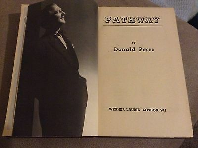 Donald Peers Pathway Vintage Signed With Letter