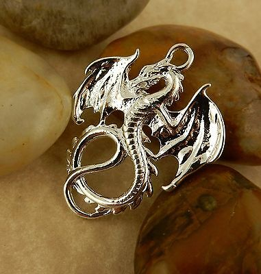 Silver plated Dragon Pendant