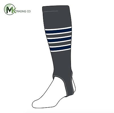 "TCK® Small/Youth, 100D, 4"" - Graphite–White–Navy Blue - MLB® Baseball Stirrups"