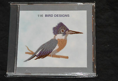 Janome Sewing Machine Memory Card #116 Bird Designs-- New in Package