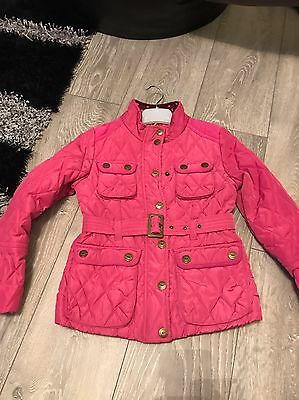 Girls Next Jacket Coat Pink Age 7/8 Years