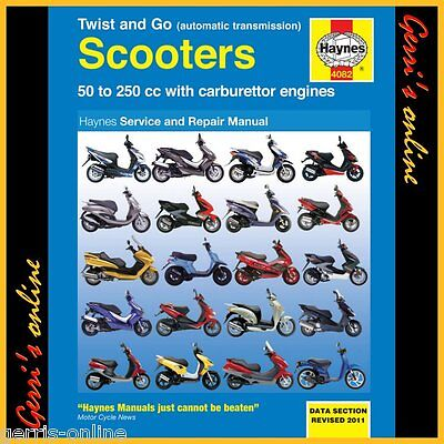 4082 Haynes Derbi Twist & Go (automatic transmission) Scooters Service Manual