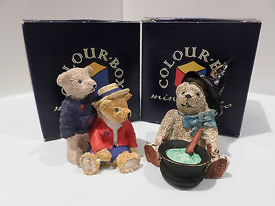Colour Box Bears: Peter and Frances TC055 and Teddy Brew TC047