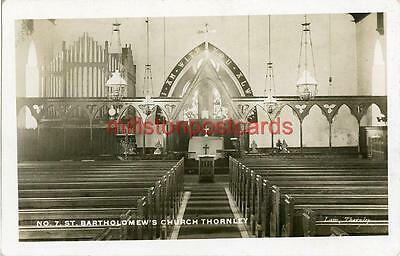 Real Photographic Postcard Of Thornley Church Interior, County Durham