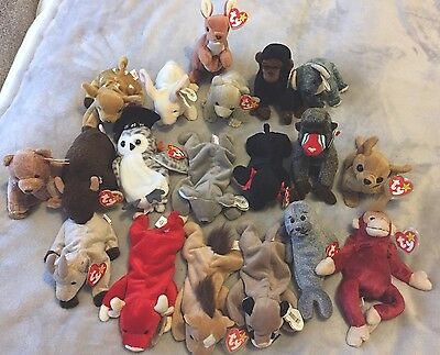 Job lot collection of Ty Beanie Babies.