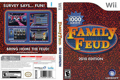 Family Feud: 2010 Edition CUSTOM WII CASE (NO GAME)