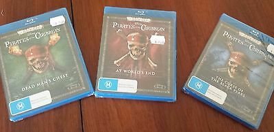 Pirates of the Caribbean Blu Ray Vols 1 - 3