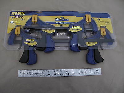 """(4) NEW Irwin Quick-Grip Clamps, 2 each 6"""" & 12"""" quick release #1895836 freeship"""