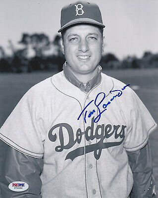 TOMMY LASORDA HOF Signed 8x10 Photo PSA/DNA Authenticated Auto!