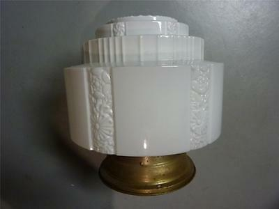 Vintage Lighting 1930's Large Milk Glas Ceiling Light Complete