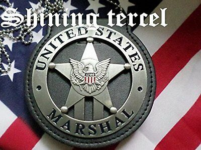 Antique Silver Five-pointed star 1789 U.S Marshal Badge with pin back and Holder
