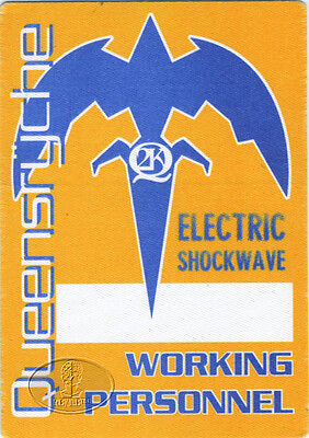 QUEENSRYCHE 1999/2000 Tour Backstage Pass Crew Yellow