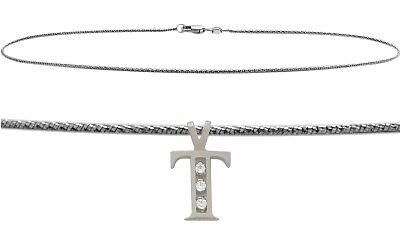 """Initial Diamond T WG 10"""" Charm Anklet"""