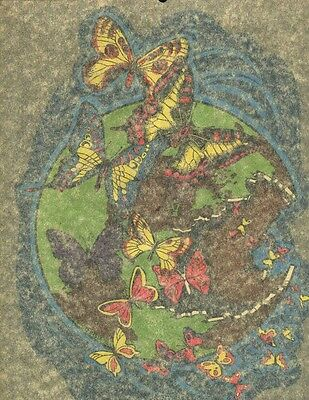 BUTTERFLIES ESCAPE vintage 70s iron on t shirt transfer full size NOS