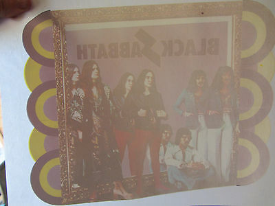 BLACK SABBATH full size 70s vintage iron on t shirt transfer NOS READ COMMENTS!