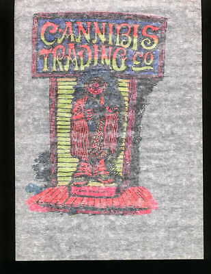 CANNABIS TRADING CO. vintage 70s iron on t shirt transfer full size